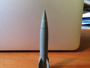 1/144 V2-A4 Rocket in White Strong & Flexible Polished
