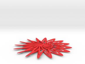 Flower  in Red Processed Versatile Plastic