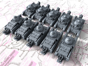 1/600 French Char D1 Light Tank x10 in Smoothest Fine Detail Plastic