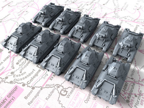 1/600 French FCM 36 Light Tank x10 in Smoothest Fine Detail Plastic