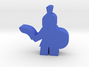 Game Piece, Ancient Greek Soldier in Blue Processed Versatile Plastic