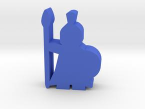 Game Piece, Greek Guard in Blue Processed Versatile Plastic