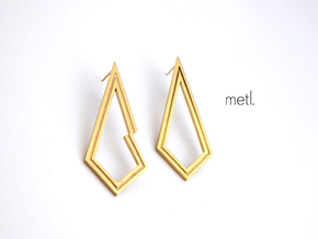 Perfectly Imperfect Earrings in Natural Brass