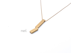 Perfectly Imperfect Pendant in Natural Brass