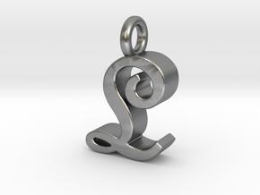 L - Pendant - 3 mm thk. in Natural Silver
