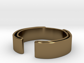 Double Fold Ring in Polished Bronze