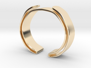 Double Fold Cuff in 14K Yellow Gold