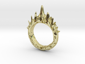 Abstract - Ring 10 - Spiked  in 18k Gold Plated Brass