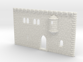HOF001 - Facade of a castle in White Natural Versatile Plastic