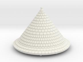 HOF012 - Roof for castle round tower HOF011 in White Natural Versatile Plastic