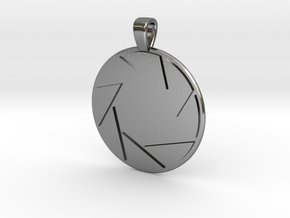 Aperture Science Laboratories Pendant - Portal in Polished Silver