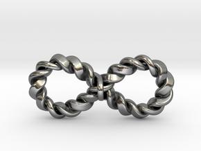 "Twistfinity Pendant 1.5"" in Polished Silver"