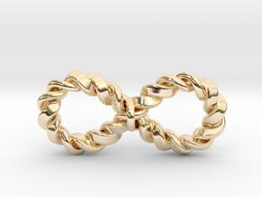 "Twistfinity Pendant 1.5"" in 14k Gold Plated Brass"