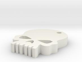 Skull keychain in White Natural Versatile Plastic