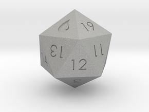 D20 Blue Mana Symbol (MTG) in Aluminum: Extra Small