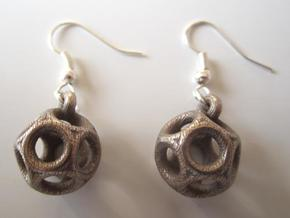 Dod Earrings in Polished Bronzed Silver Steel