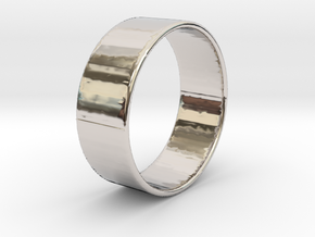 Band Ring  - 14K Rose Gold Plated in Platinum