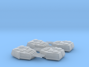 1/270 Large Turrets (4) in Smooth Fine Detail Plastic: Medium