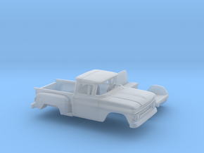 1/160 1962 Chevrolet C-10 Stepside Small Rear Wind in Smooth Fine Detail Plastic