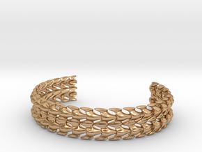 Bones Bracelet in Polished Bronze