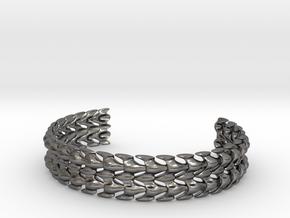 Bones Bracelet in Polished Nickel Steel