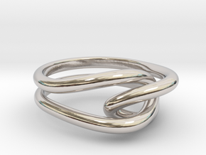 Whitehead ring (US sizes 1.5 – 5.5) in Rhodium Plated Brass: 1.5 / 40.5