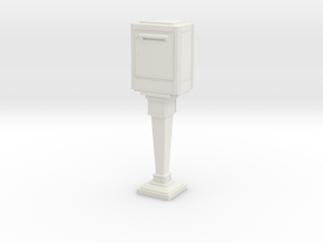 1/43 French Post Box / boîte postale n°2 in White Natural Versatile Plastic