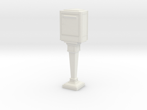 1/60 French Post Box / boîte postale n°2 in White Natural Versatile Plastic