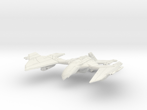 Romulan GunHawk Class  B WarCruiser II  Big in White Natural Versatile Plastic