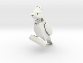 Jay / BulBul Bird in White Natural Versatile Plastic