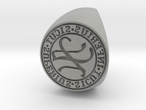 Custom Signet Ring 61 in Metallic Plastic