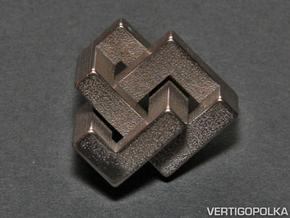 Cubic Trefoil Knot 1inch in Stainless Steel