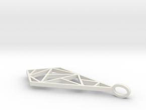 Minimalist Geometric Pendant in White Natural Versatile Plastic