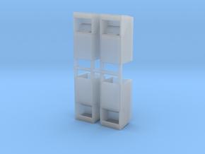 Altkleidercontainer 4er Set 1:120 TT in Smooth Fine Detail Plastic