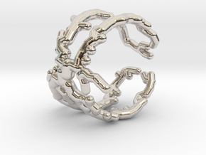 Root ring (US sizes 1.5 – 5.5) in Rhodium Plated Brass: 1.5 / 40.5