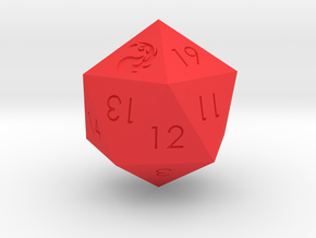 D20 Red Mana Symbol (MTG) in Red Processed Versatile Plastic: Medium