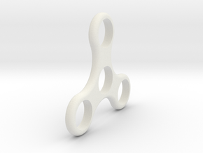 Standard Spinner (large) in White Natural Versatile Plastic