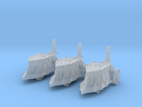 10mm Imperial Hammer Steam Tanks (3pcs) in Smooth Fine Detail Plastic