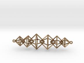 Interlocking Octahedron Necklace in Interlocking Raw Brass