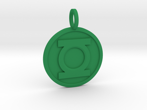 Green Lantern Pendant in Green Processed Versatile Plastic