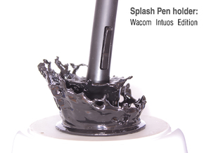 Splash Pen Holder: Wacom Intuos Edition in Black Natural Versatile Plastic