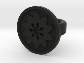 flower ring in Black Natural Versatile Plastic