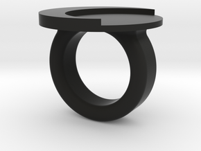 moon ring in Black Natural Versatile Plastic