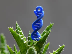 DNA Earrings in Blue Processed Versatile Plastic