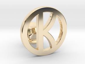 kingsman cufflinks - customizable in 14K Yellow Gold
