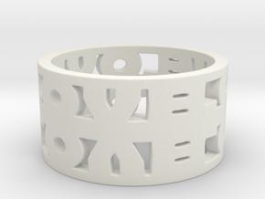 Infinite Love Ring in White Natural Versatile Plastic: 5 / 49