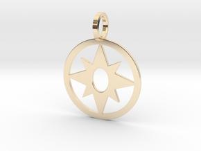 Star Sapphire Pendant in 14K Yellow Gold