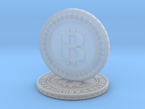 Sculpture bitcoin in Smooth Fine Detail Plastic