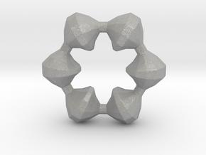 0105 Antisymmetric Torus (p=6;u=36;v=12) 10cm #012 in Aluminum
