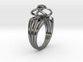 3-2 Enneper Curve Triple Ring (001) in Premium Silver